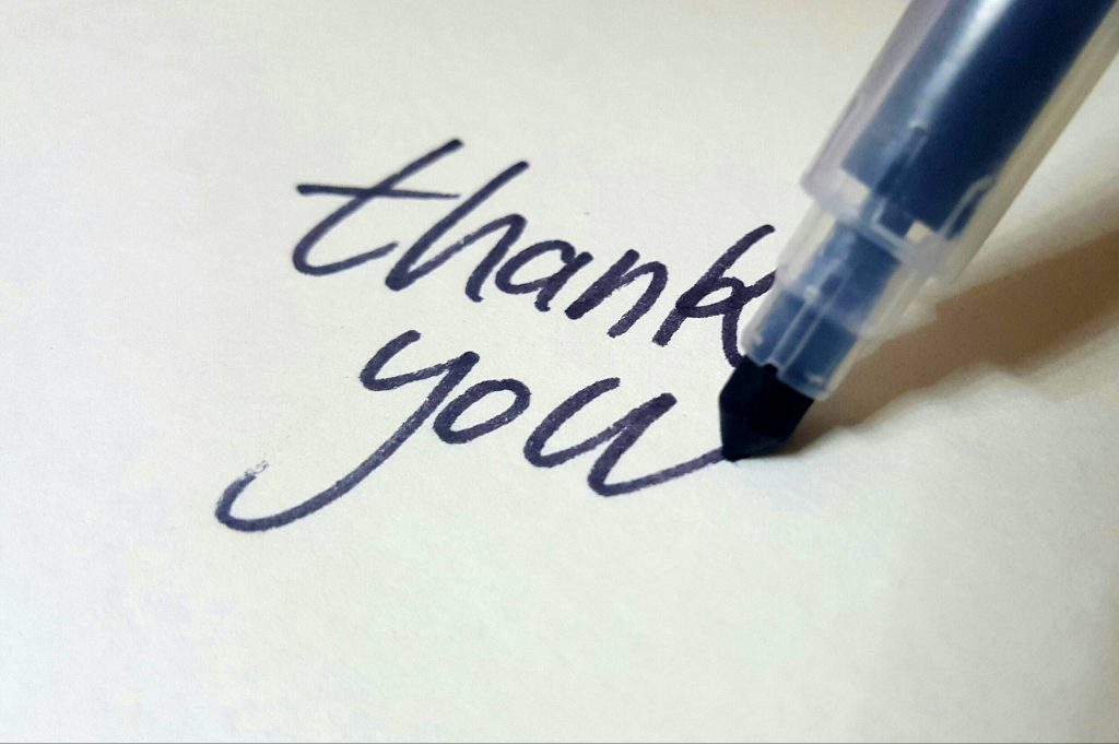 Showing gratitude regularly leads to increased happiness.